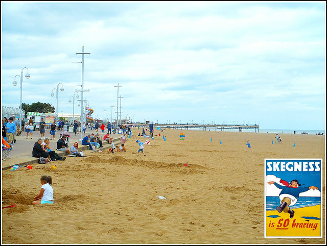 The Beach at Skegness ..