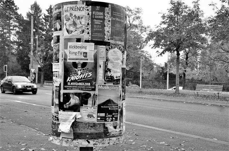 Advertising pillar 10.11.2018