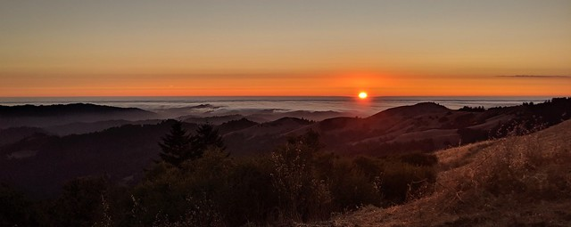 Sunset. Santa Cruz Mountains, San Mateo County, California.