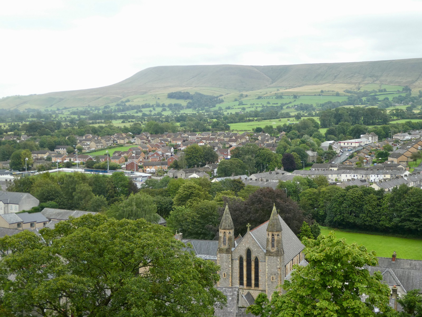 Views over to Pendle Hill from Clitheroe Castle Keep