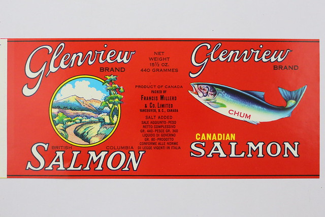 Label for Glenview brand chum salmon