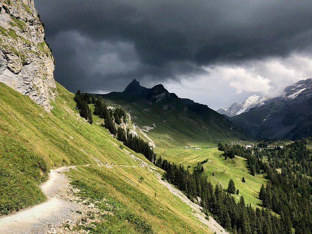 Thunderstorm in the Swiss Alps