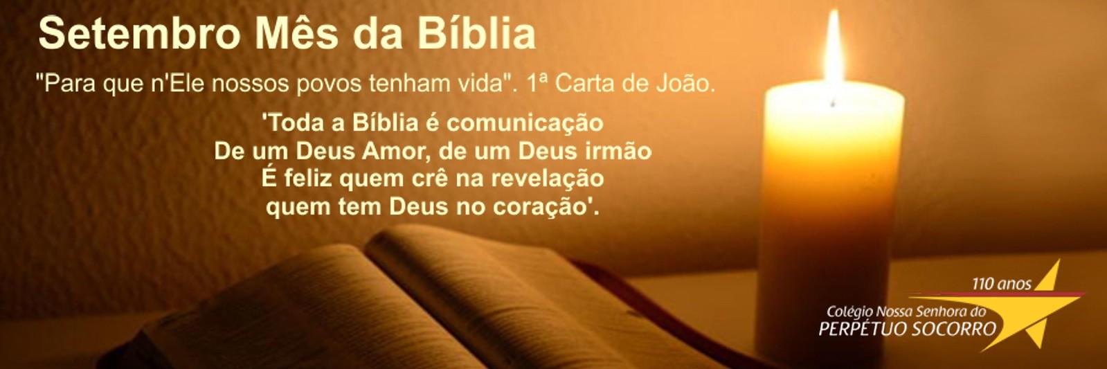 Setembro, mês da bíblia - Colégio Perpétuo Socorro