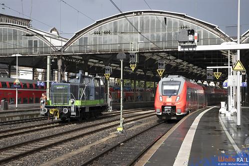 363 707 . AixRail + 442 257 . DB . Aachen Hbf . 05.09.19.