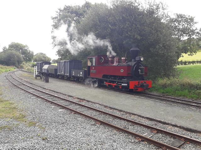 Goods Train Waits at Cyfronydd