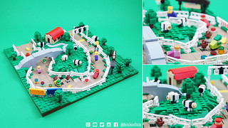 Microscale Moo Moo Farm from Mario Kart 64 | by BrickinNick