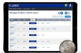 NGC Morgan Dollar price guide