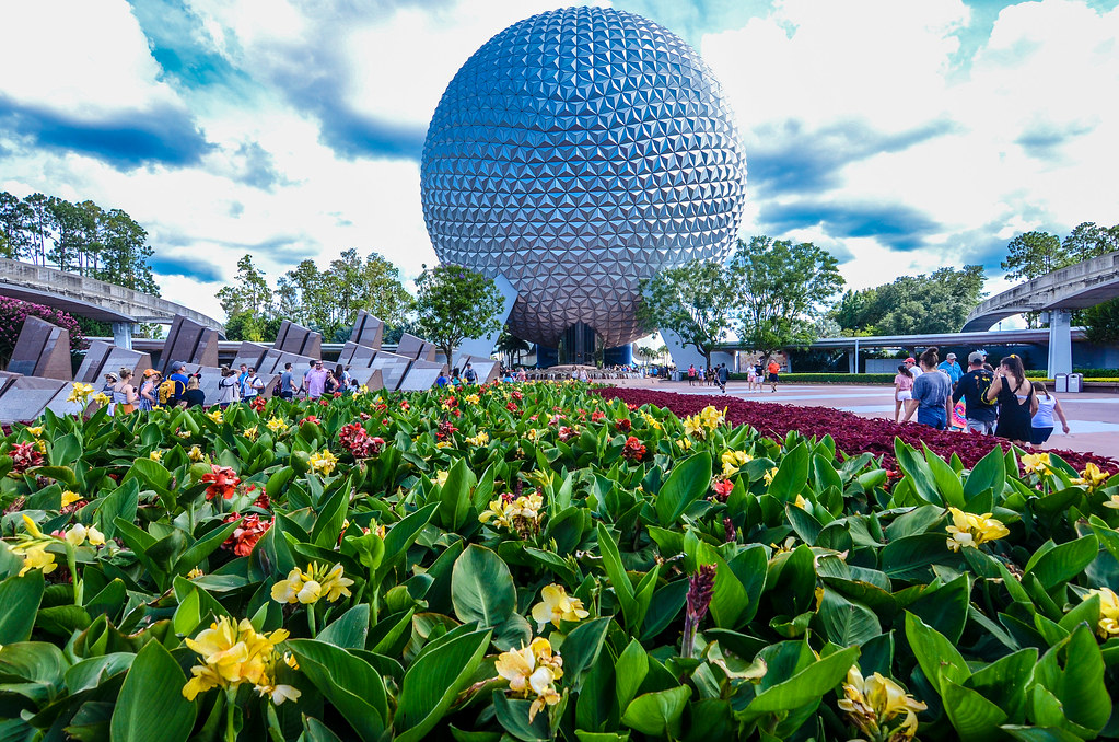 SSE flower bed Epcot