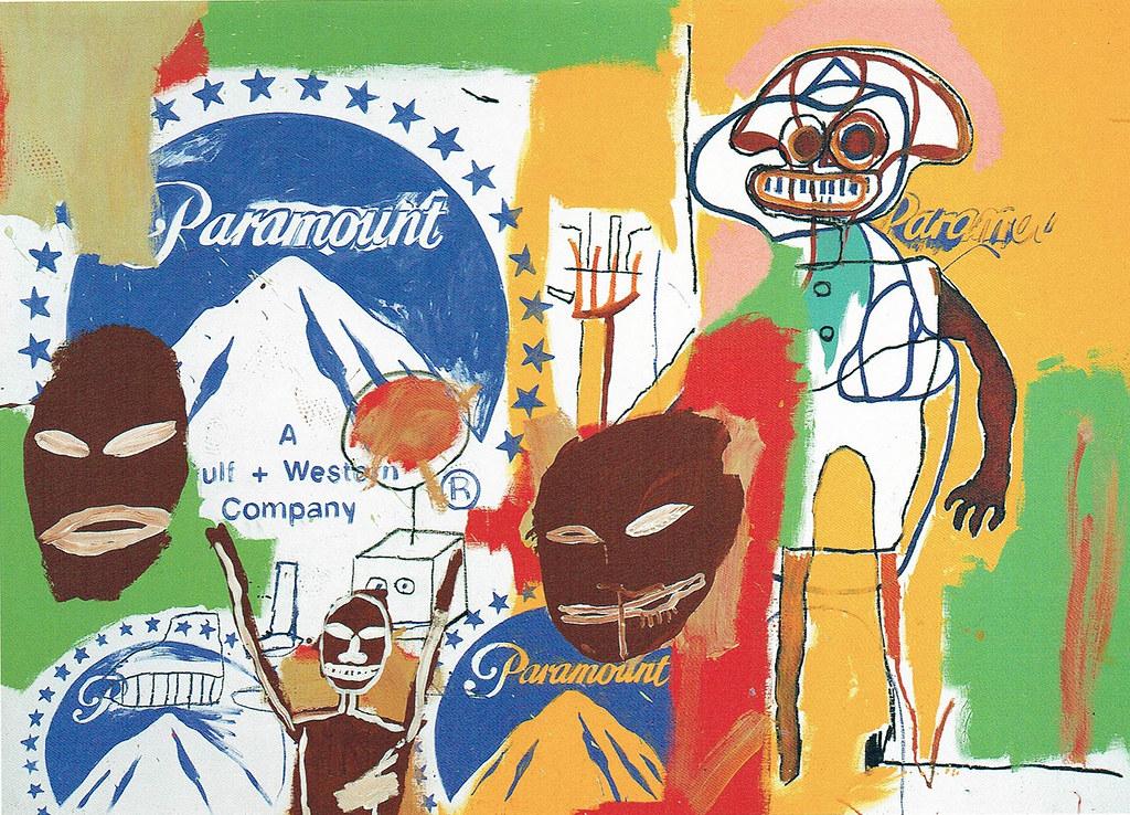 Untitled, 1984, acrylic on canvas, 191×267㎝=Warholとのコラボ(91年会社案内より)