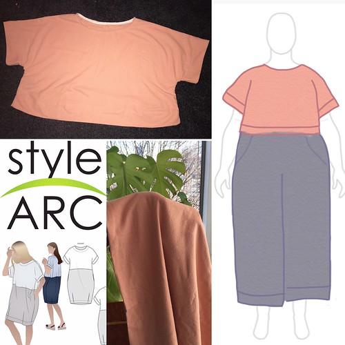StyleArc Eme Silk Noil My Body Model