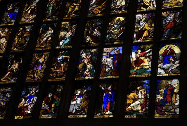 Milan Duomo: Stained Glass Windows (details)