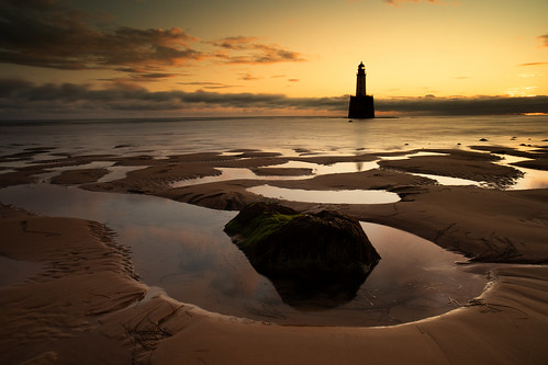 rattrayhead lighthouse scotland sunrise sunset landscape red sky dof depthoffield canon canon5d eos aberdeenshire
