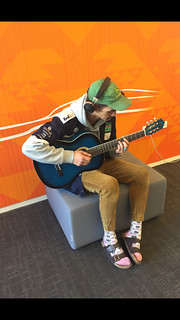 Guitar playing on Hapori, Tūranga | by Christchurch City Libraries