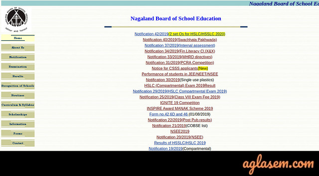 NBSE HSSLC Admit Card 2020