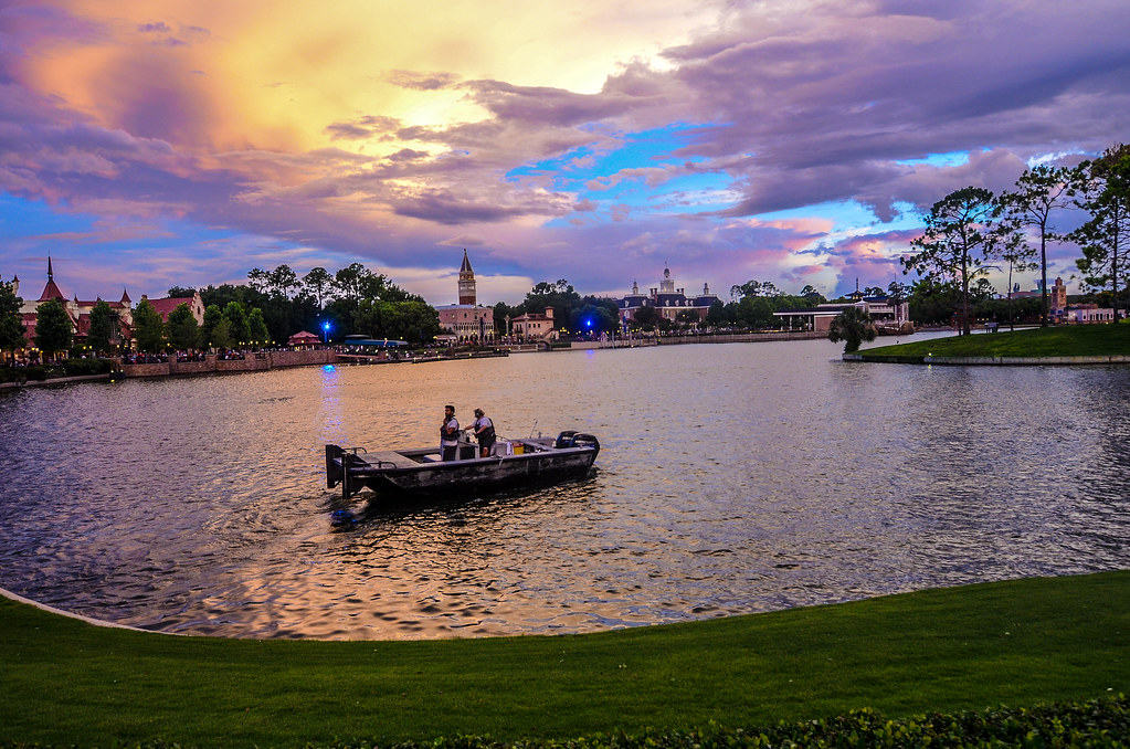 World Showcase lagoon boat color