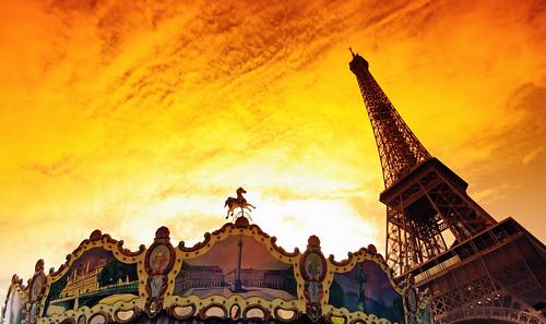Eiffel fairground carrousel
