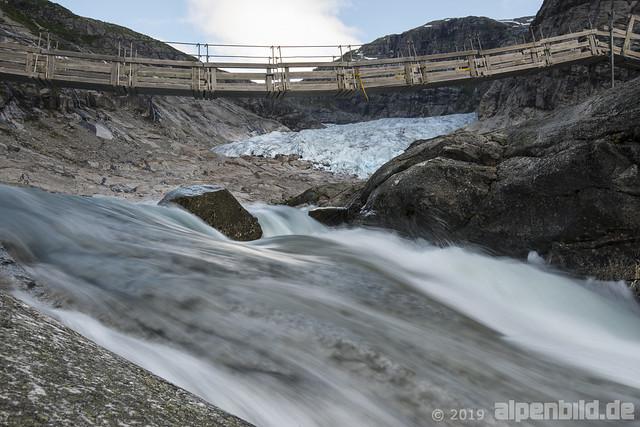 Gletscherbach Nähe Nigardsbreen