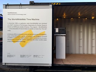 If you're at Techfestival.co in Copenhagen, drop in to this shipping container where I'll be demoing WorldWideWeb.cern.ch | by adactio