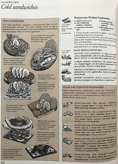 The Good House Keeping Illustrated Cook Book 1980 - Illustrated Cold Sandwiches Recipes