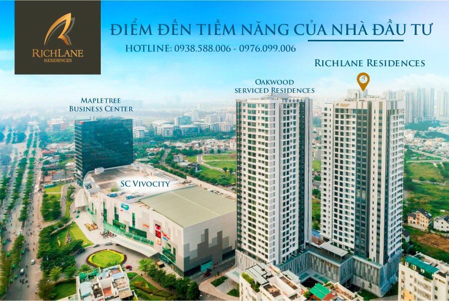 Căn hộ RichLane Residences thừa hưởng hệ thống tiện ích khổng lồ của khu Nam Sài Gòn.