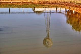 Dam reflections.