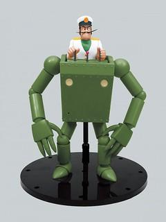 土木工萬能機器人登場!青島文化教材社《未來少年柯南》作業機器人 戴斯船長版(ロボノイド ダイス船長版)1/20比例組裝模型
