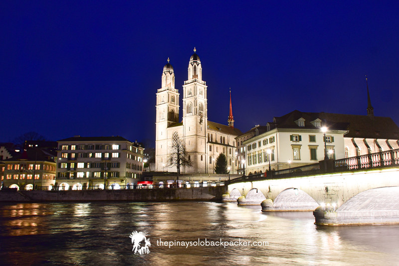 ZURICH TOURIST SPOT - GROSSMUNSTER CHURCH