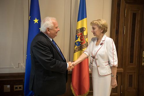 06.09.2019 Întrevederea Președintelui Parlamentului, Zinaida Greceanîi, cu Joseph Daul, președintele Partidului Popular European