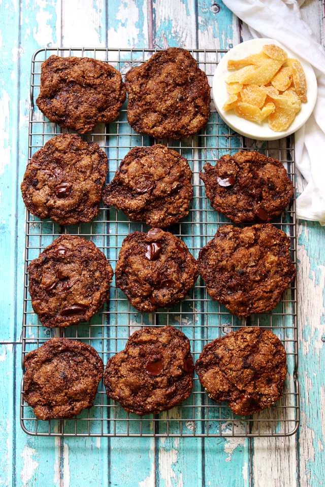 Spicy Hazelnut and Ginger Chocolate Chip Cookies