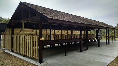 Photo of renovated shooting pavilion at Elk Neck State Forest
