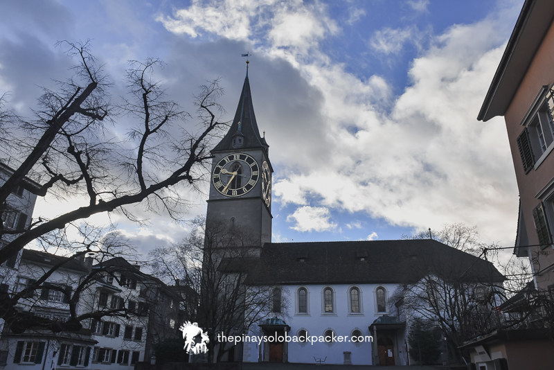 ZURICH PLACES TO VISIT - ST. PETER CHURCH