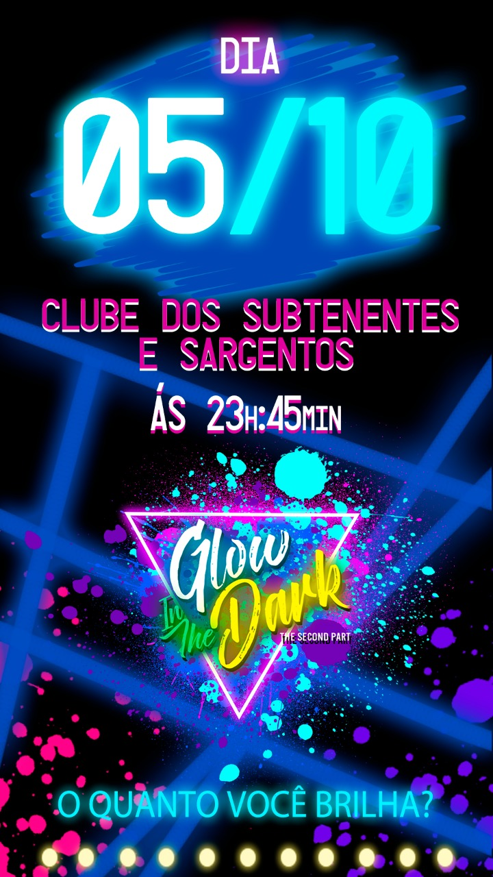 Dia 6 de outubro - a festa mais colorida do ano em rosário do Sul - Glow in the Dark 2