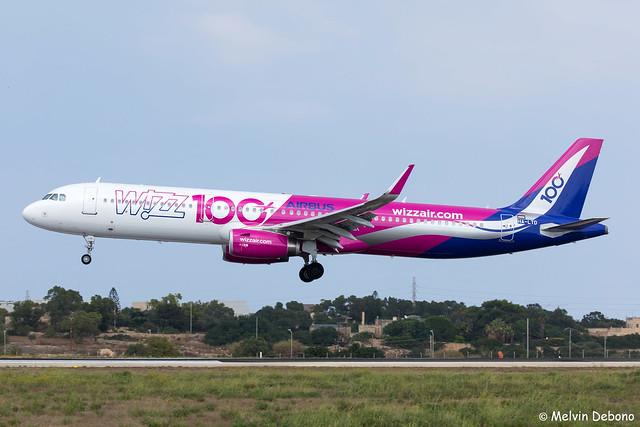 Wizz Air Airbus A321-231     HA-LTD     LMML