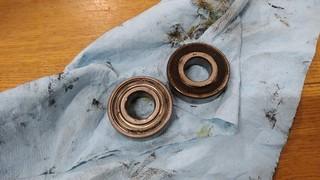 wheel bearings removed