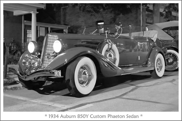 1934 Auburn 850Y Custom Phaeton Sedan