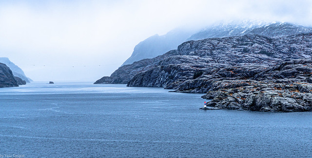 Early morning view of waterways of Norway, north of Bergen-32a