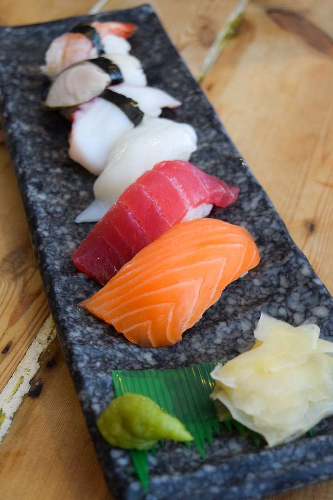 Mixed Nigiri at Happy Samurai, Canterbury