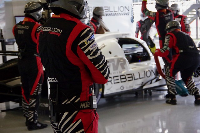 Rebellion Racing in the pits