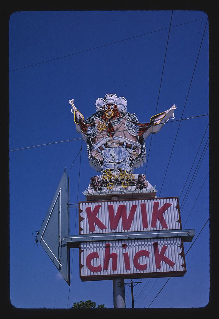 Kwik Chick Restaurant Sign Route 87b San Angelo Texas