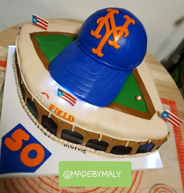 Mets and Citifield Cake by Samaly Matos