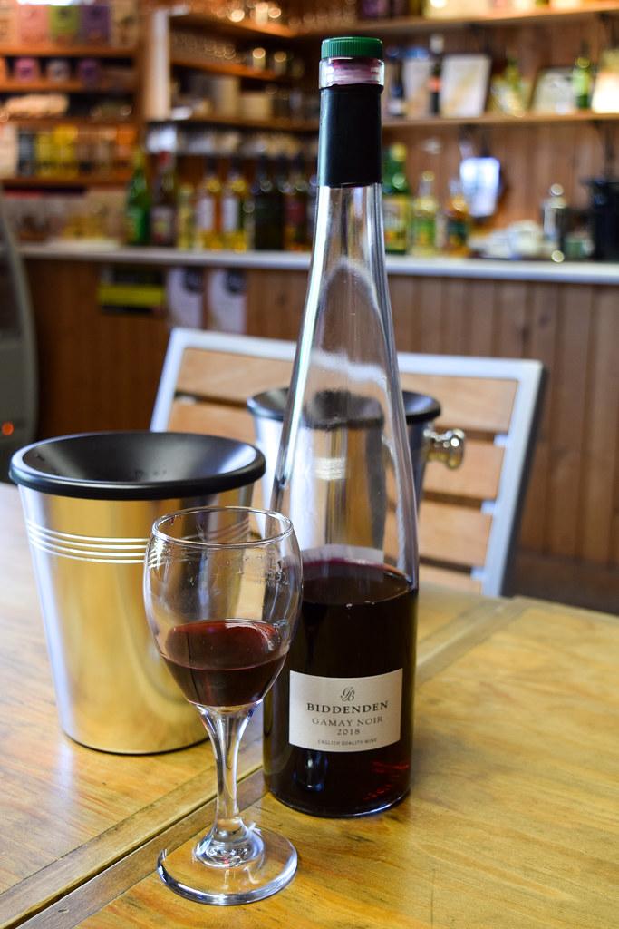 Chilled English Red Gamay at Biddenden Vineyard