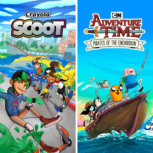 Adventure Time Pirates of the Enchiridion and Crayola Scoot