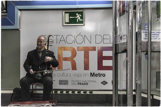 Sin público. Estación del Arte. Metro de Madrid