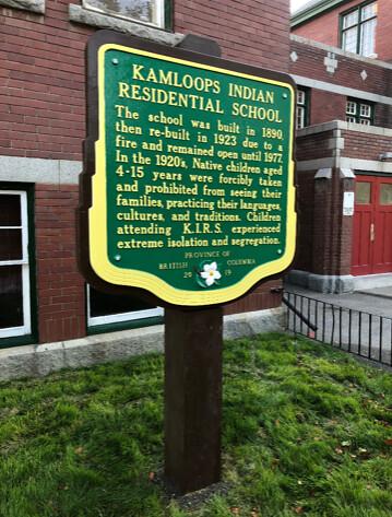 Kamloops Indian Residential School Stop of Interest sign