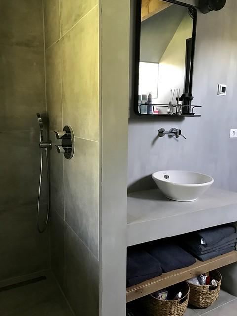 Badkamer beton ciré