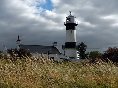 Stroove Lighthouse on Inishowen Peninsula in Ireland