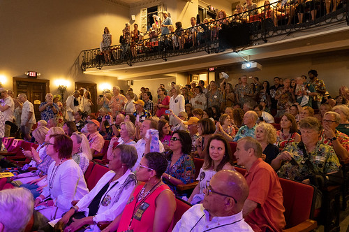Audience at Le Petit during WWOZ Groove Gala 2019 [Photo by Charlie Steiner]