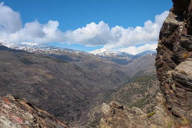 The view from  Peñabón, near Trevélez. Spain