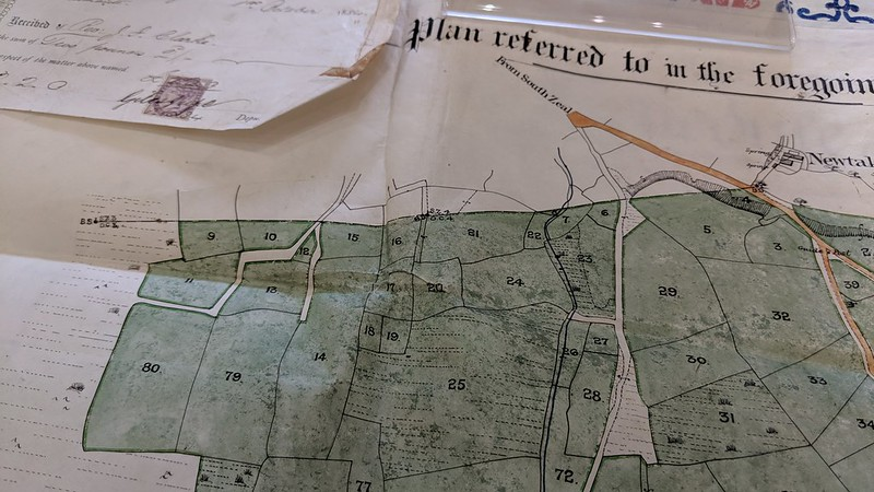 1884 Conveyance Map - close up of SZ / DC stones