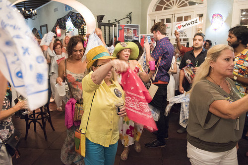 Second line at the WWOZ Groove Gala at Tableau and Le Petit Theatre in New Orleans on September 5, 2019. Photo by Ryan Hodgson-Rigsbee RHRphoto.com